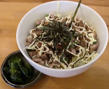 ふくすけ 刻みちゃーしゅーの甘辛マヨ丼