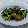 じじ&ばば 豚肉とニンニクの芽の炒め物