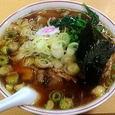 青島西掘通店 チャーシューメン(大)+ねぎ50円増+ほうれん草50円増