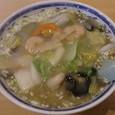 笑美寿亭 海老の塩あんかけ麺