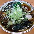 青島 チャーシューメン(大)+ねぎ50+ほうれん草50