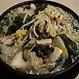 慶楽 文甲イカと季節野菜の炒め高菜入りスープ麺