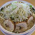 のろし新発田店 ラーメン(肉三枚)+野菜増し