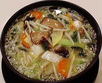 慶楽 季節野菜のスープ麺