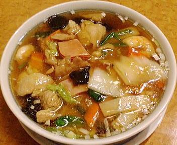 四川飯店 五目入りスープ麺