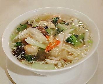 慶楽 芝海老と野菜のスープ麺