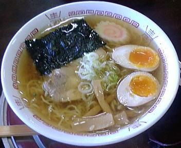 奥次郎(移転前) 松浜らーめん+味玉