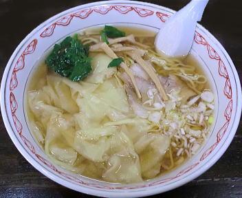 くら田 ワンタンメン(大盛・平麺)