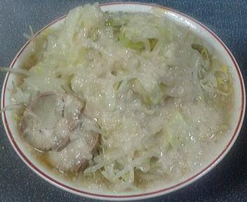 大蒲田店 ラーメン(野菜多+背脂)
