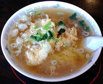 玉寿し食堂 天麩羅ラーメン(大盛)
