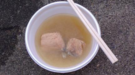 岩船さかなまつり 味噌汁