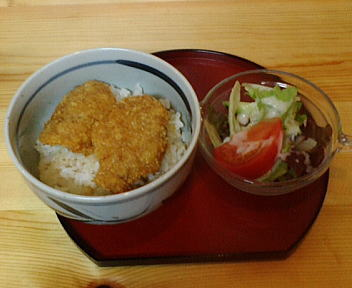 我路 セットメニュー(ミニかつ丼+サラダ)