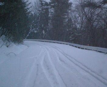 ドライブ 雪道
