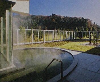 加茂 美人の湯 露天風呂