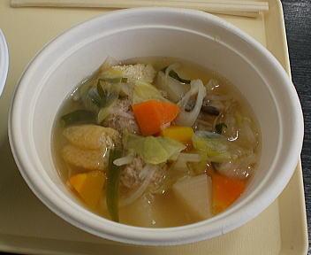 にいがた冬食の陣当日座 越後もち豚の肉だんご藻塩汁