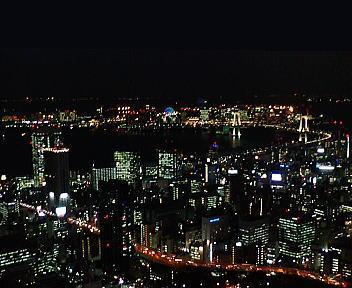 東京タワー お台場方面 夜