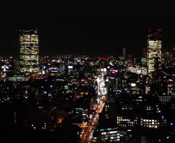 東京タワー 六本木方面 夜