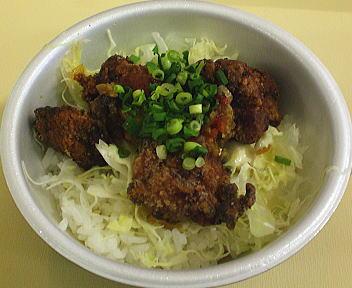 越の鶏唐揚げ丼