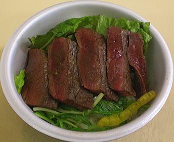 県産牛ステーキ丼
