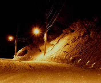 野沢温泉冬の灯明夜まつり アプローチ