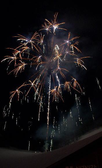 野沢温泉冬の灯明夜まつり 花火大会