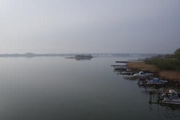 阿賀野川の朝靄
