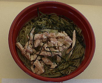 涼麺フェア 辛味おろしそば鶏の梅肉添え