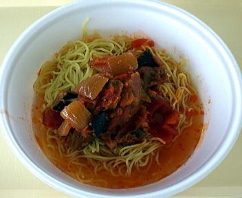 涼麺フェア 冷しラーメン カボナータソース