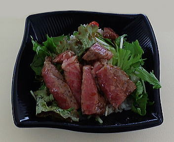 新潟お肉王国 村上モモステーキ丼