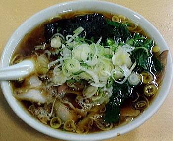 青島西掘 ラーメン(大盛)+ねぎ50+ほうれん草100③