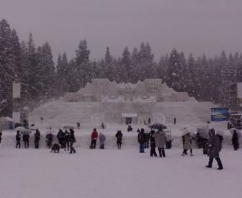 十日町雪祭り 雪上カーニバル会場