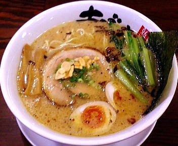 あごすけ 濁汁麺+味付けたまご+江戸菜