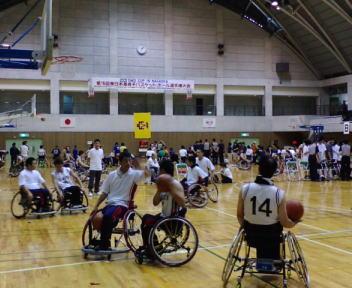 第18回東日本車椅子バスケットボール選手権大会 練習