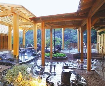 蓬平温泉 和泉屋 風の湯 露店風呂