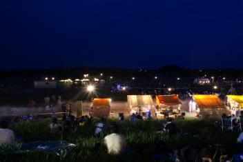 2009酒田花火ショー 打上開始前