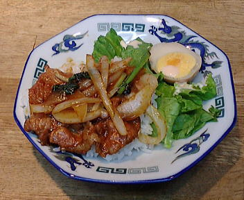 古稀櫻 焼肉丼(ラーメンセット)