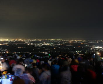 角田山提灯登山 夜景