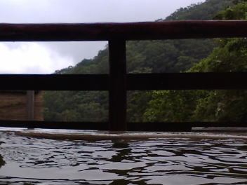 国見温泉 森山荘 露天風呂 景色