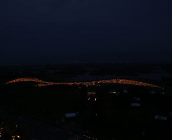 福島潟自然文化祭 雁迎灯