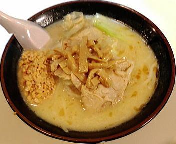 古潭 野菜味噌ラーメン+納豆+チャーシュー+メンマ