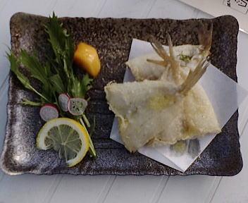 トキめきカーニバル 柳ガレイの天ぷら