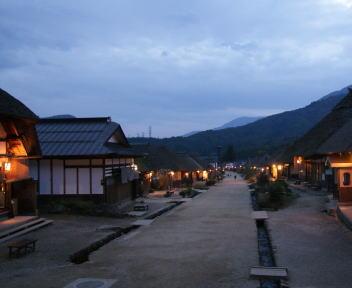 大内宿 夕方