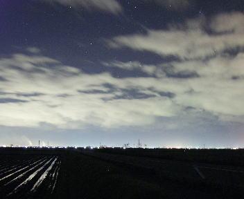 ふたご座流星群 明るい空