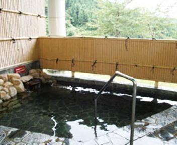 大山温泉 あさひ荘 露天風呂
