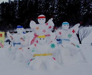2010スノーフェスティバルin越路 雪像づくりコンテスト 銀賞 元町A ソーラン春を呼ぶ