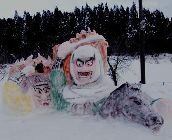 2010スノーフェスティバルin越路 雪像づくりコンテスト 銀賞 十楽寺 越路のねぶた