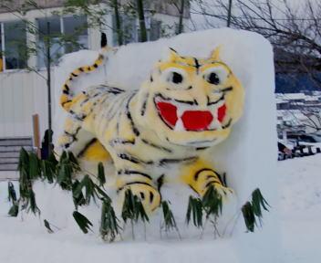 2010スノーフェスティバルin越路 雪像づくりコンテスト 銅賞 朝友会 寅