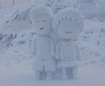 2010スノーフェスティバルin越路 雪像づくりコンテスト 銅賞 小川興業 まる子不景気なんかぶっとばせ!!