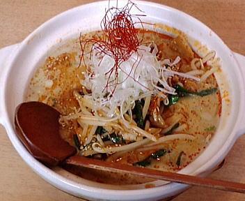 笑美寿亭 豚肉とキムチの土鍋担々麺