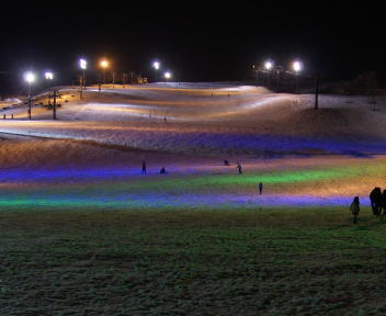 安塚スノーフェスティバル キューピットバレースキー場 ゲレンデ